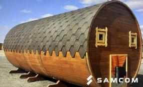 Доставка бани-бочки из России в Казахстан