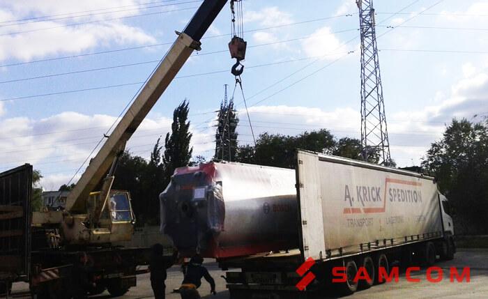 Перевозка водогрейного котла из Энгельса в Караганду