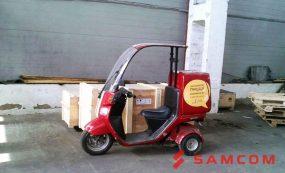 Перевозка скутера для Додо Пиццы