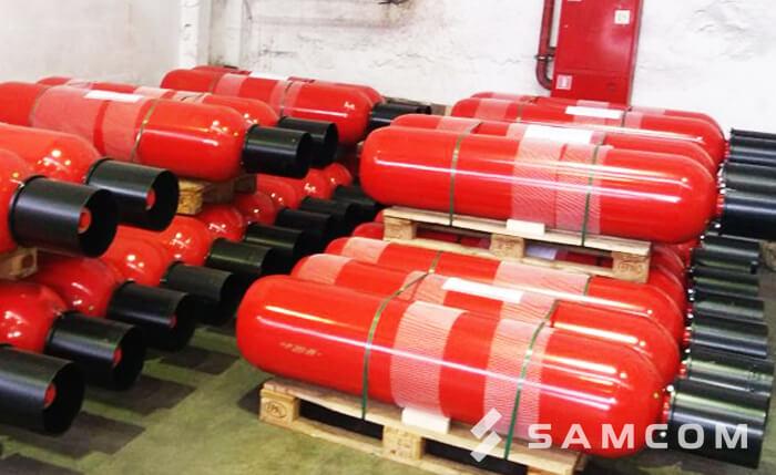 Перевозка модулей газового пожаротушения