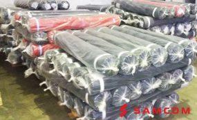 Доставка 197-ми рулонов ткани из Иваново в Каскелен