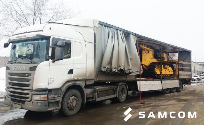 Перевозка гусеничного трактора из Челябинска в Москву