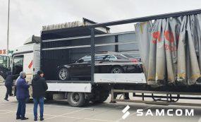 ГК SAMCOM перевезла автомобиль премиум-класса из Санкт-Петербурга в Шымкент