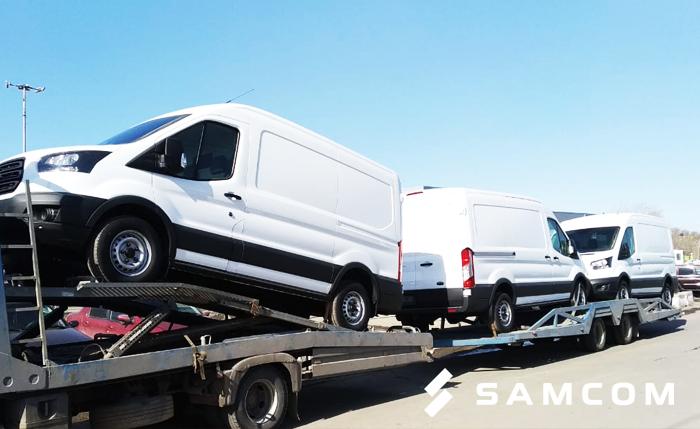 Доставка микроавтобуса Ford из России в Казахстан