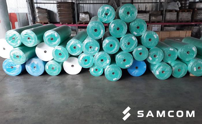 Доставка ткани в рулонах для медицинских масок в Казахстан